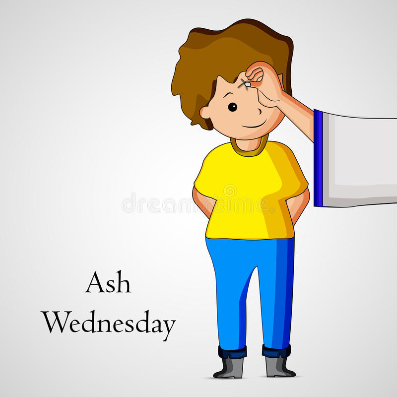 Ash Wednesday Background vector illustratie