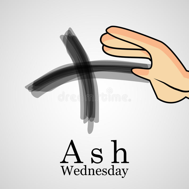 Ash Wednesday Background stock illustratie