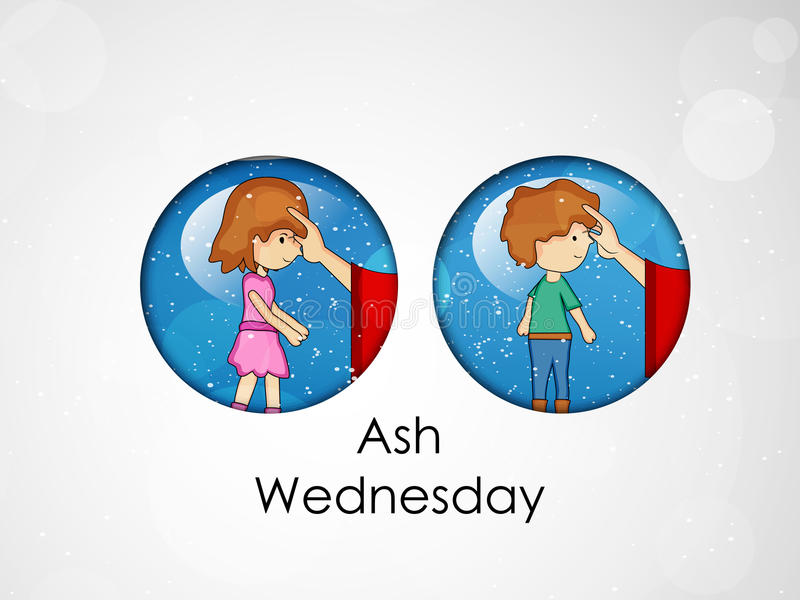 Ash Wednesday Background royalty free illustration