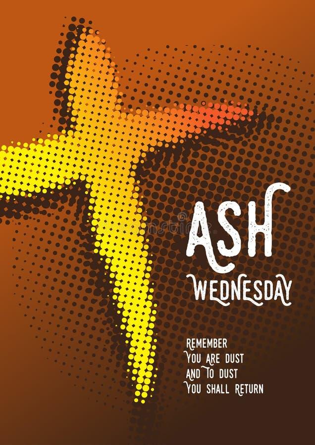 Ash Wednesday, Christentum Auch im corel abgehobenen Betrag lizenzfreie abbildung