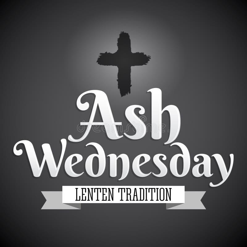 Ash Wednesday Christian-traditie stock illustratie