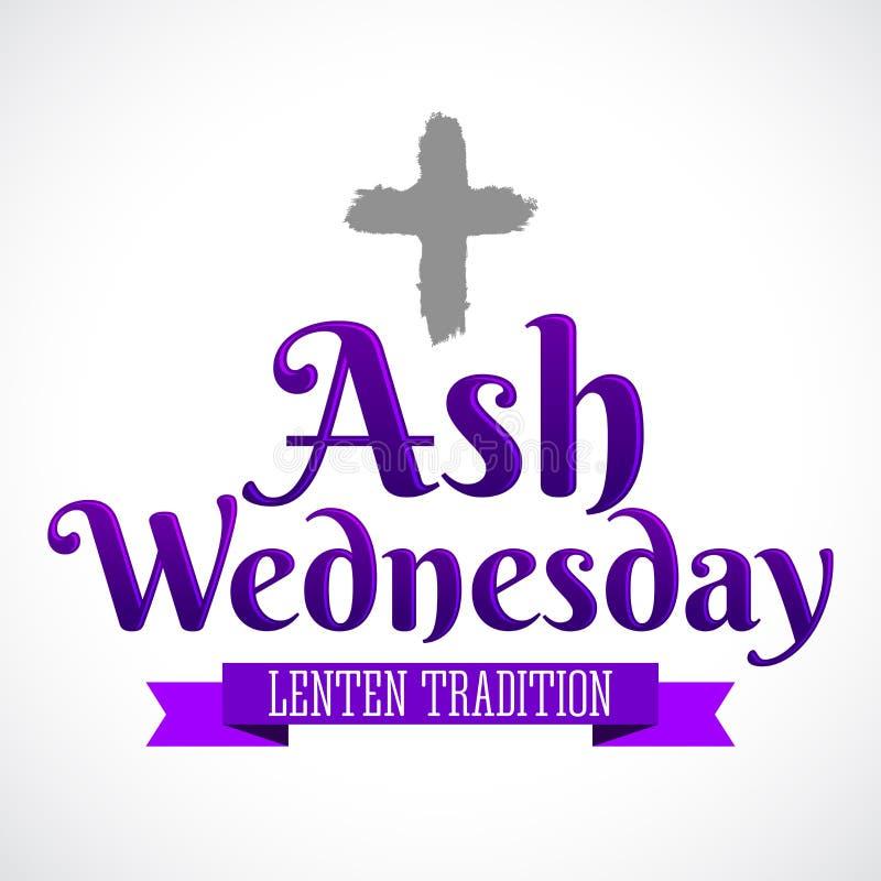 Ash Wednesday Christian-Tradition lizenzfreie abbildung