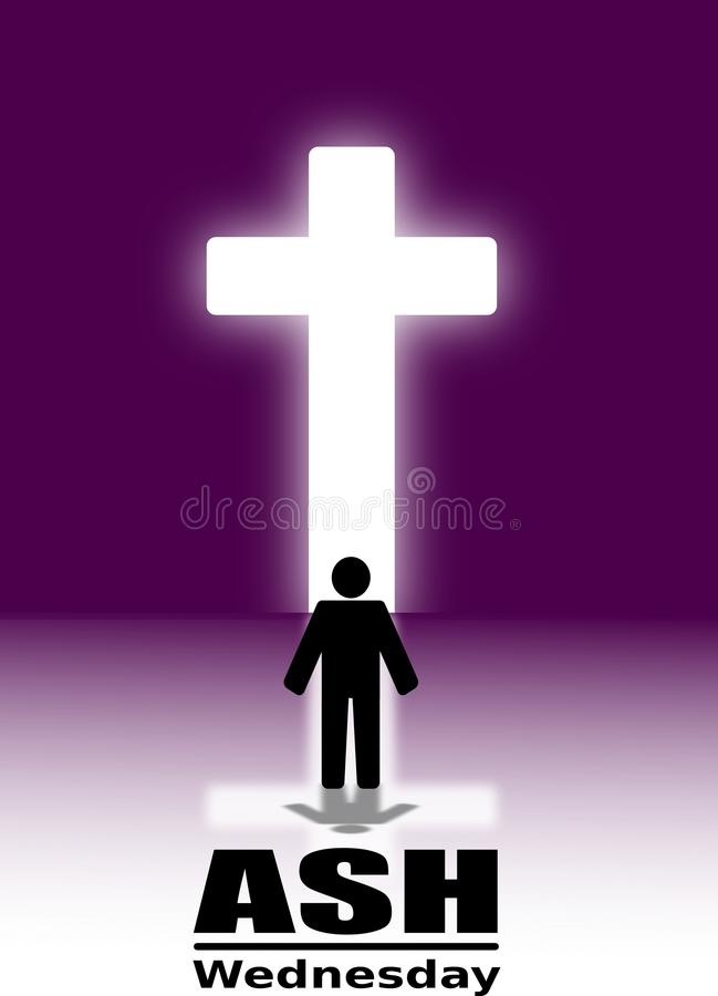 Ash Wednesday Poster Or Banner-Achtergrond vector illustratie