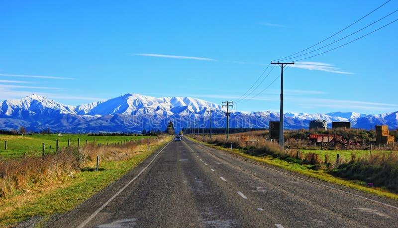 Rural View of Ashburton Taupo New Zealand Grazing Pasture royalty free stock image
