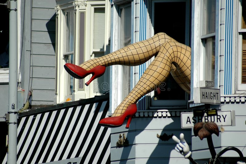 ashbury francisco haight san royaltyfri bild