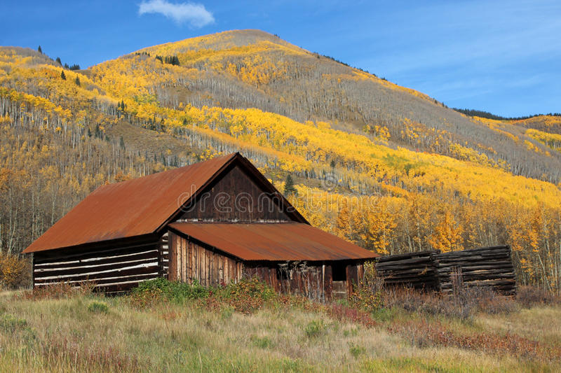 Ashcroft Ghost Town, Colorado. Ashcroft was once the home of a silver mining boom, with two newspapers, 20 saloons, a school and many private homes. Once the stock image