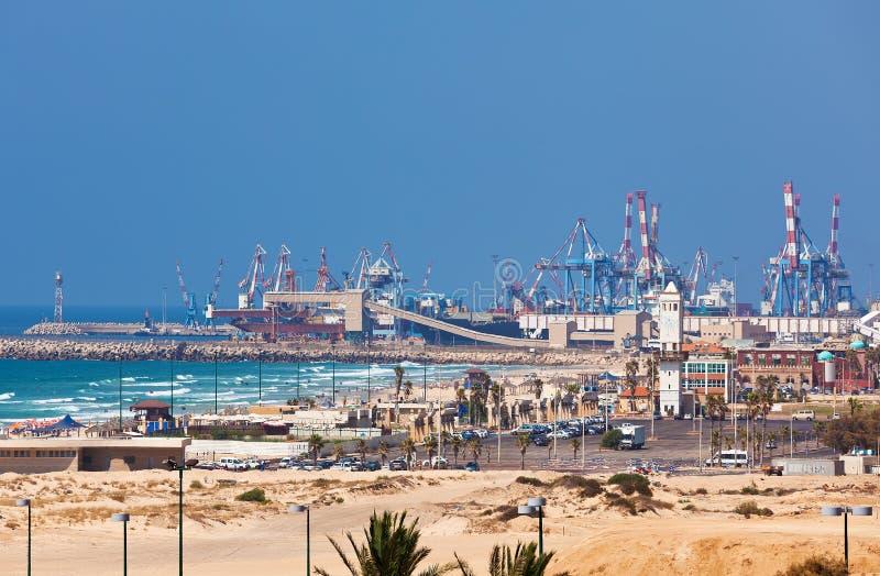 Ashdod hamnstadsikt. royaltyfria bilder