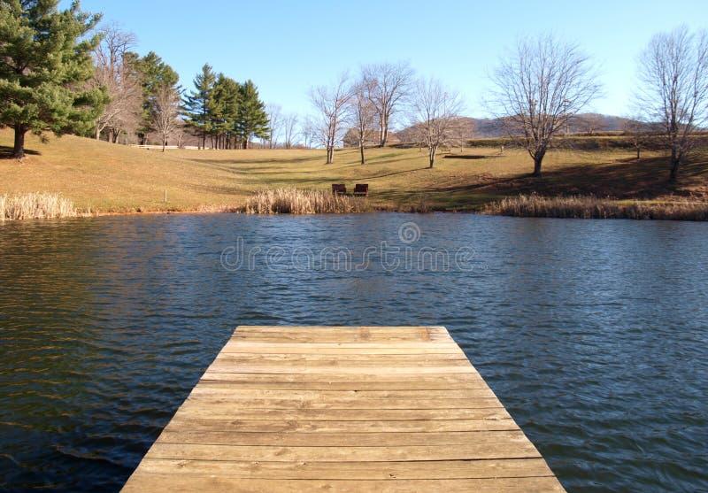 Ashe Park Trout Pond imagem de stock