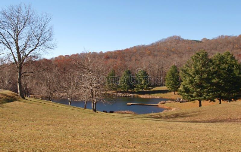 Ashe Park Trout Pond stock foto