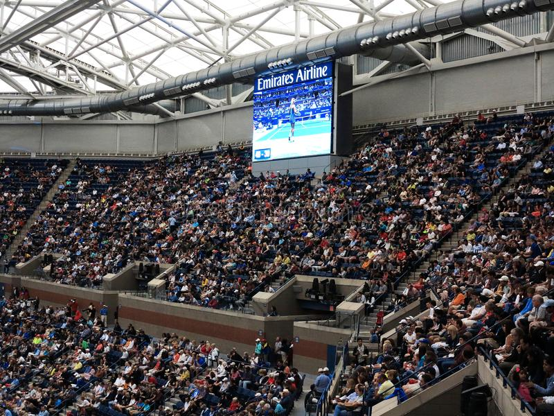 Ashe Stadium - tenis del US Open fotografía de archivo libre de regalías