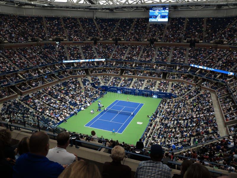Ashe Stadium - US Opentennis arkivbild
