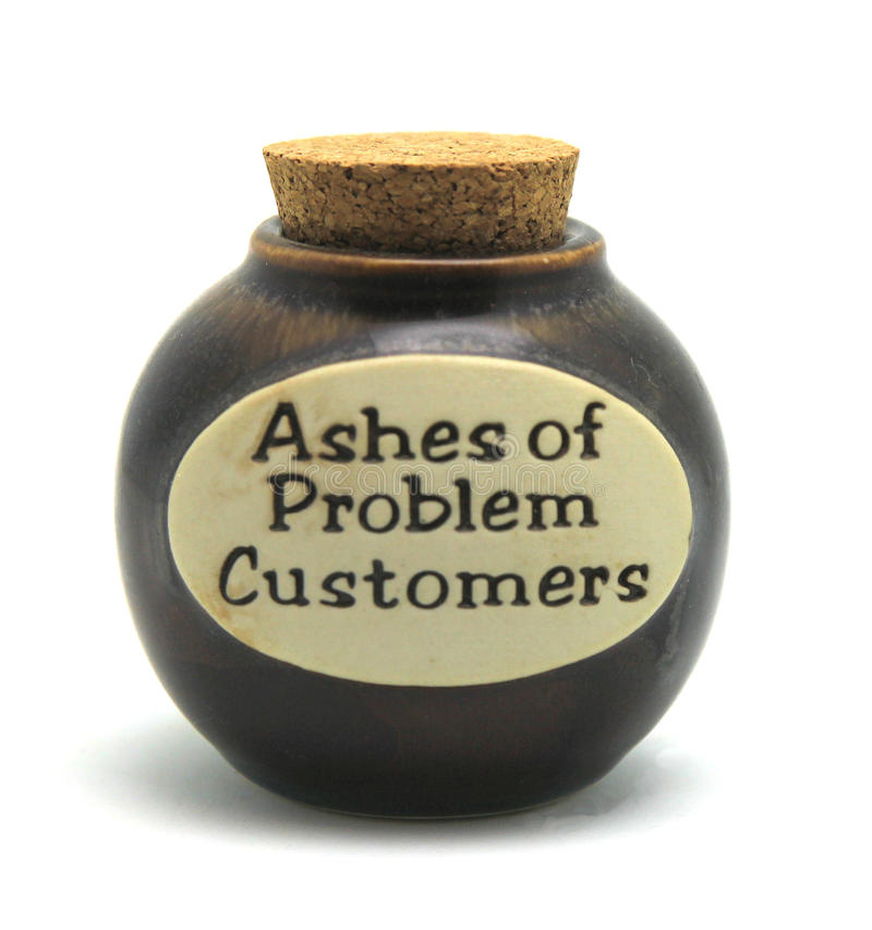 Ashes of Problem Customers stock photos