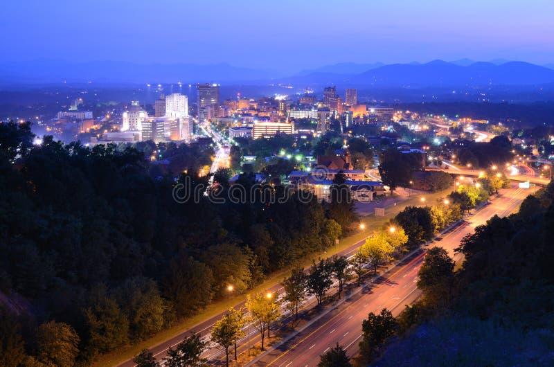 Asheville Horizon stock foto
