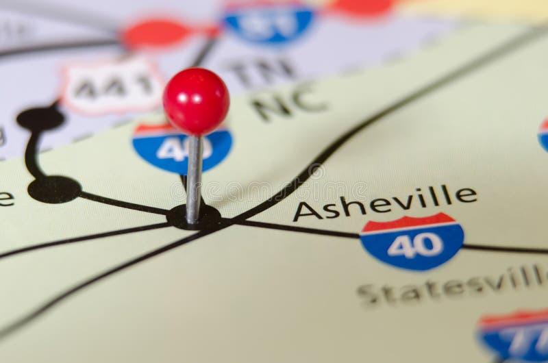 Asheville Noord-Carolina speld stock afbeelding