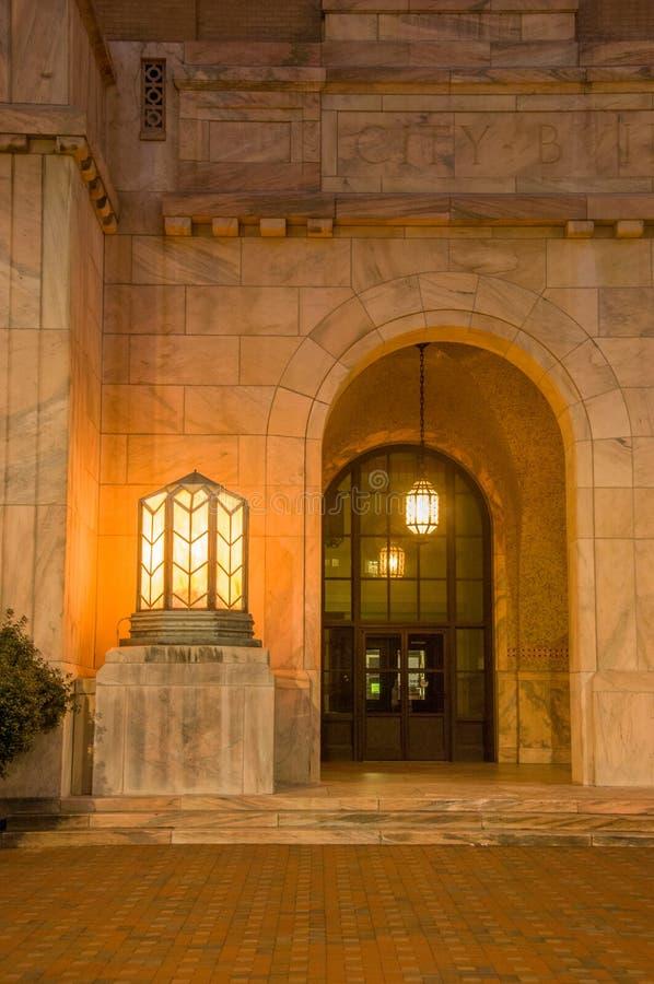 Asheville urząd miasta wejście obraz royalty free