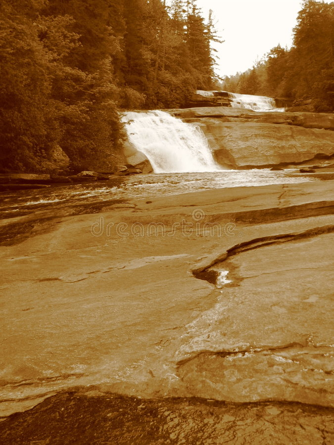 Asheville Waterfall II. A waterfall in the Dupont State Forest of North Carolina royalty free stock image
