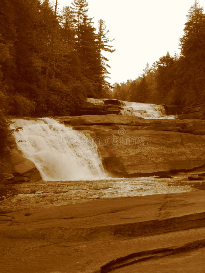 Asheville Waterfall IV. A waterfall in the Dupont State Forest of North Carolina stock image