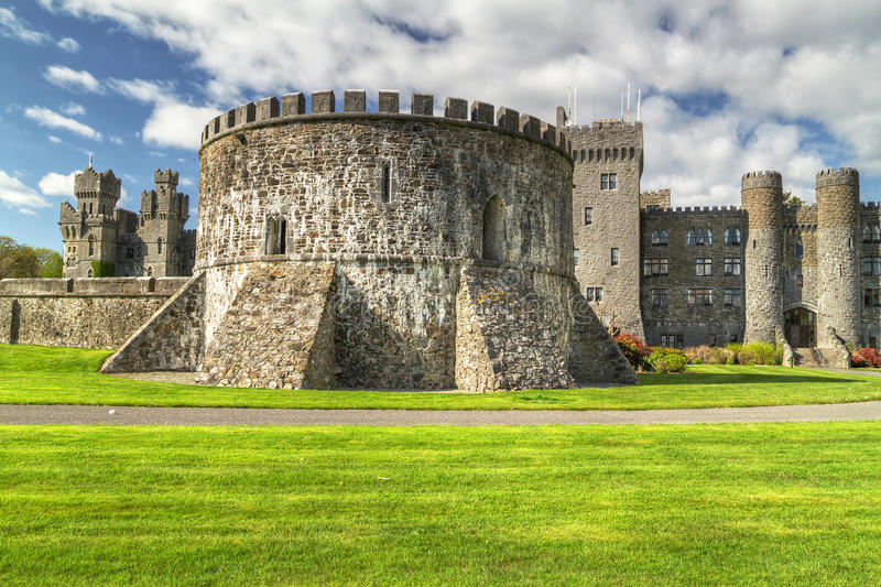Ashford castle in Co. Mayo royalty free stock photos