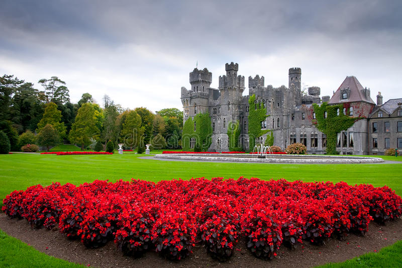 Ashford castle and gardens in Co. Mayo