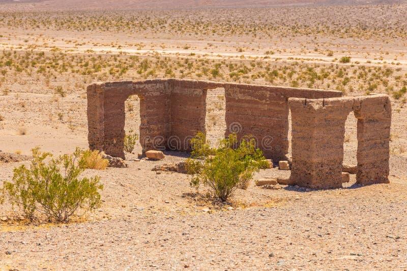 Ashford Mill Ruins, Death Valley, California, Stati Uniti fotografia stock