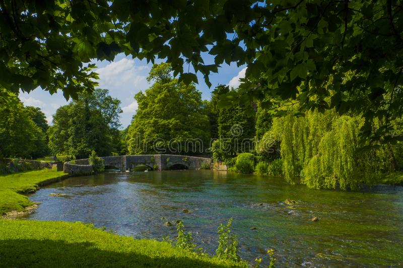 Ashford in the Water,Derbyshire,England. stock photos