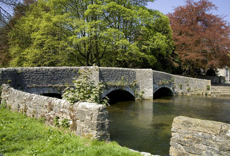 Ashford in the water peak district national park derbyshire the. Midlands england medieval bridge river wye royalty free stock photos