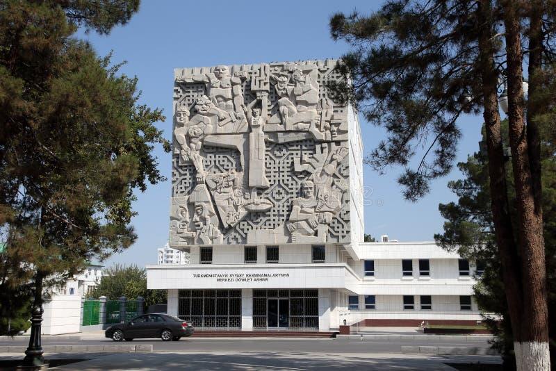 Ashgabad, il Turkmenistan - 10 ottobre 2014 La città archiva il buildin fotografia stock libera da diritti