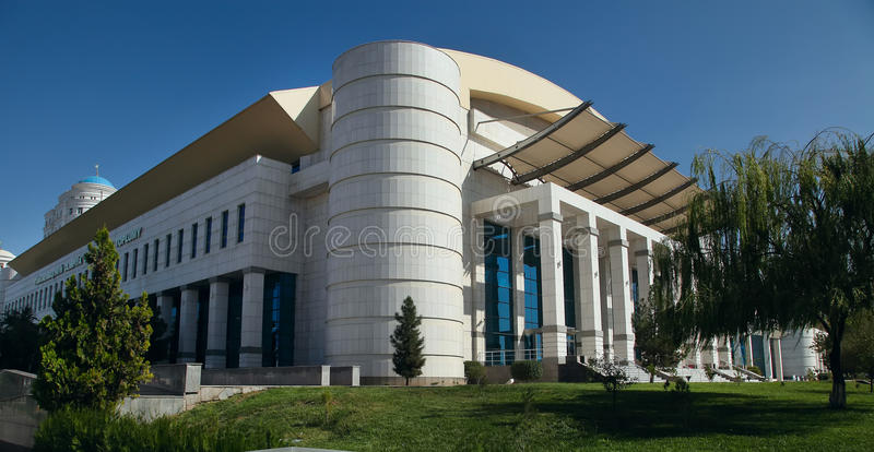 Ashgabat, Τουρκμενιστάν - 19 Οκτωβρίου 2015 Μέρος του αθλητισμού σύνθετου στοκ εικόνες με δικαίωμα ελεύθερης χρήσης