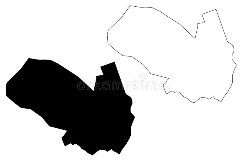 Ashgabat City Republic of Turkmenistan, Districts of Turkmenistan map vector illustration, scribble sketch Poltoratsk map.  stock illustration