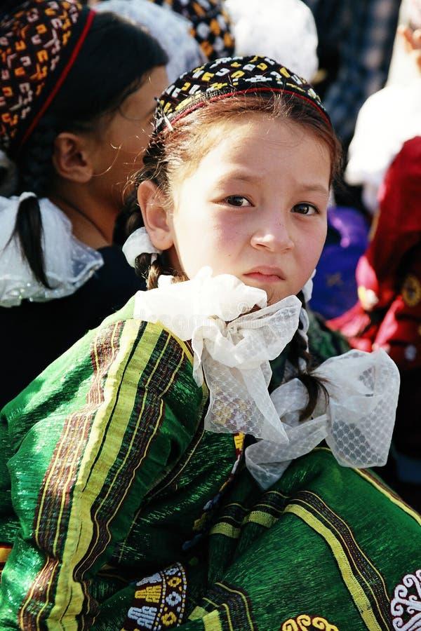 Ashgabat, Turkmenistan - August 26. Portrait of young unident stock images