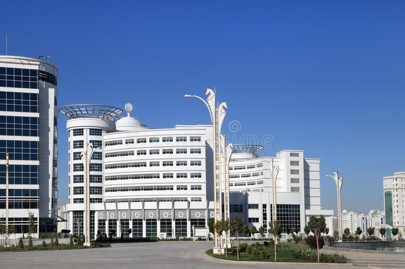 Ashgabat, Turkmenistan - October 23, 2014: Olympic Village (Ashgabat, 2017). October 23, 2014. Ashgabat first in the Central Asia. N region has received the royalty free stock photography