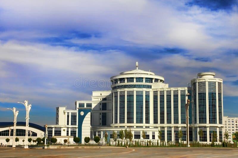 Ashgabat, Turkmenistan - Oktober 20, 2015 Een deel van het complex royalty-vrije stock fotografie