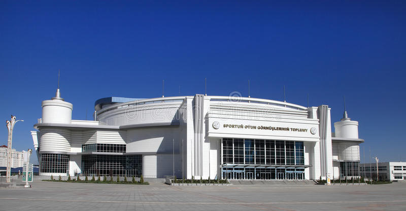 Ashgabat Turkmenistan - Oktober 23, 2014: Olympisk by (Ashg arkivfoton