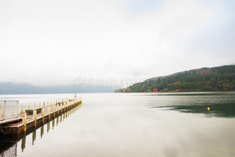 Ashi del lago a Hakone, Giappone fotografia stock