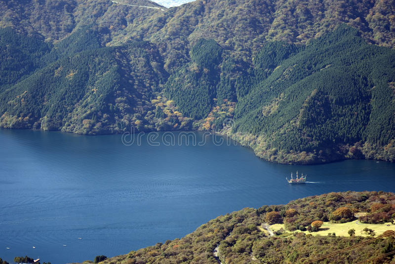 ashi Japan jezioro obrazy royalty free