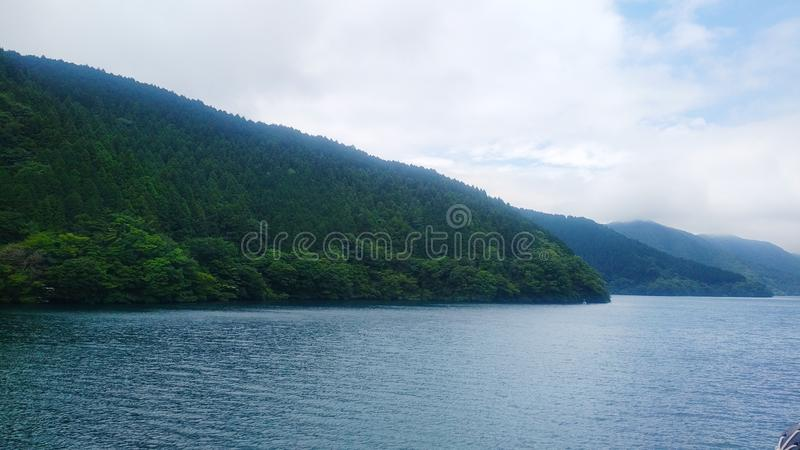 Ashi jezioro zdjęcie stock