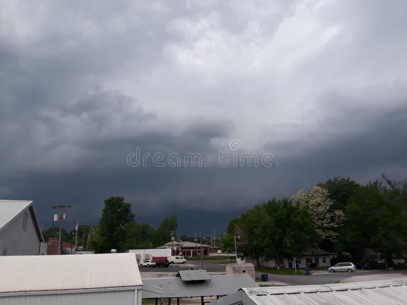 Ashland Missouri de la nube de tormenta fotos de archivo