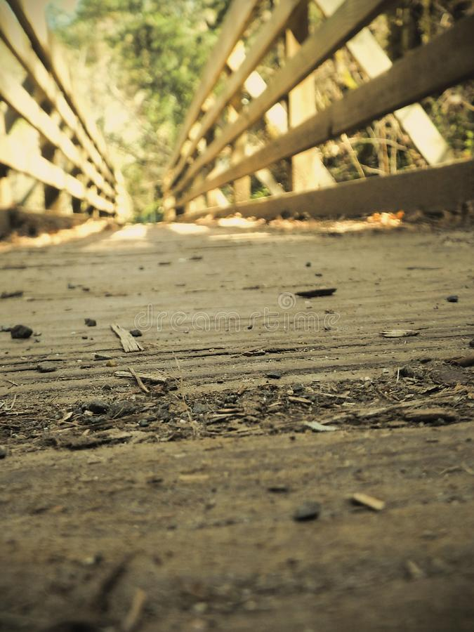 Old wooden bridge stock photography