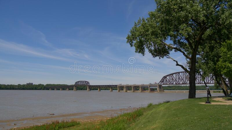 Ashland Park with a view over Louisville - LOUISVILLE, UNITED STATES - JUNE 14, 2019. Ashland Park with a view over Louisville - LOUISVILLE, USA - JUNE 14, 2019 royalty free stock photos