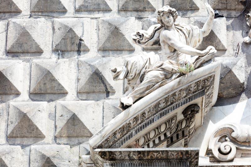 ashlar w Dziejowym centrum Naples obraz stock