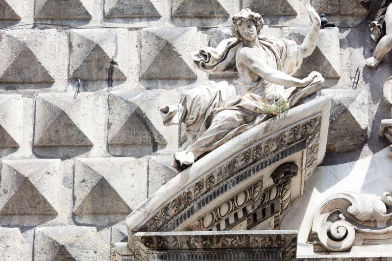 ashlar w Dziejowym centrum Naples fotografia stock