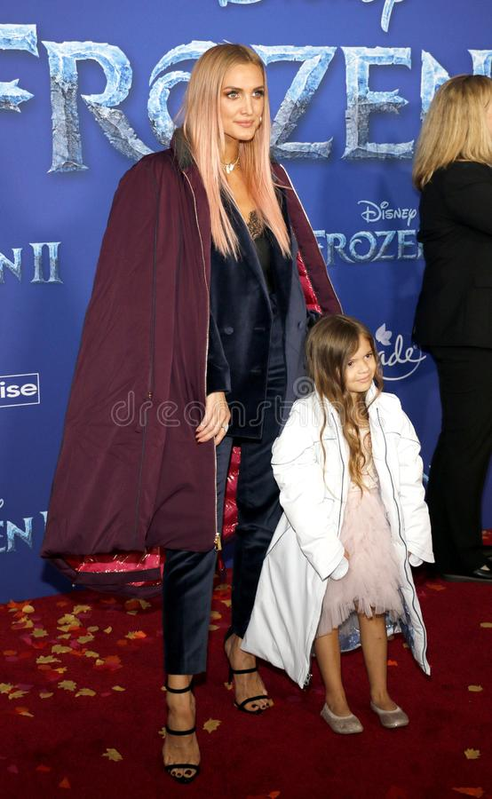 Ashlee Simpson and Jagger Snow Ross stock photos
