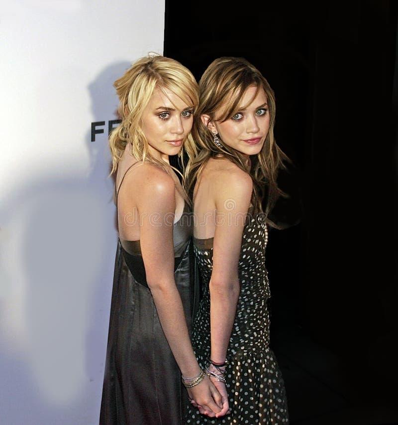 Ashley Olsen en Mary-Kate Olsen royalty-vrije stock foto's
