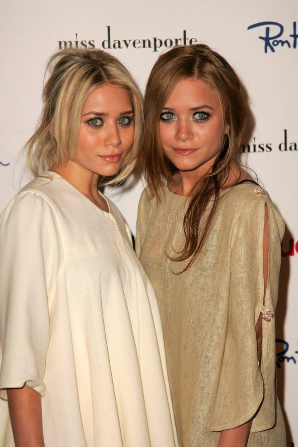 Ashley Olsen en Mary-Kate Olsen   royalty-vrije stock fotografie