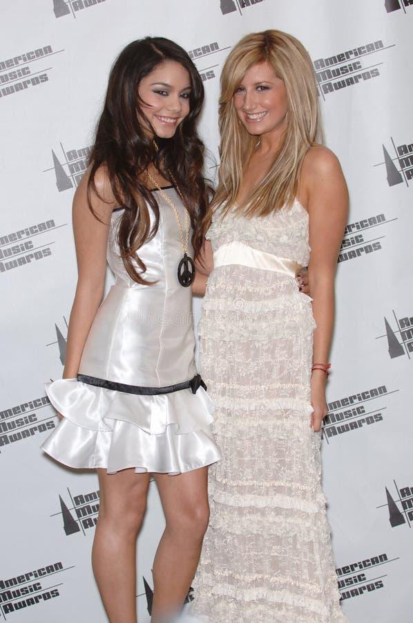 Ashley Tisdale, Vanesa ANNE Hudgens foto de archivo libre de regalías