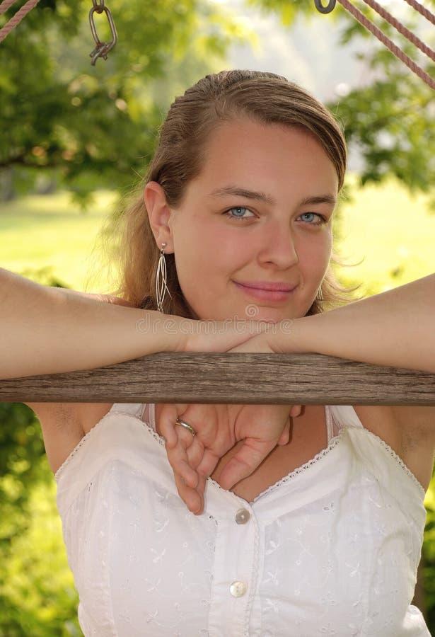 Ashly Lächeln lizenzfreies stockfoto