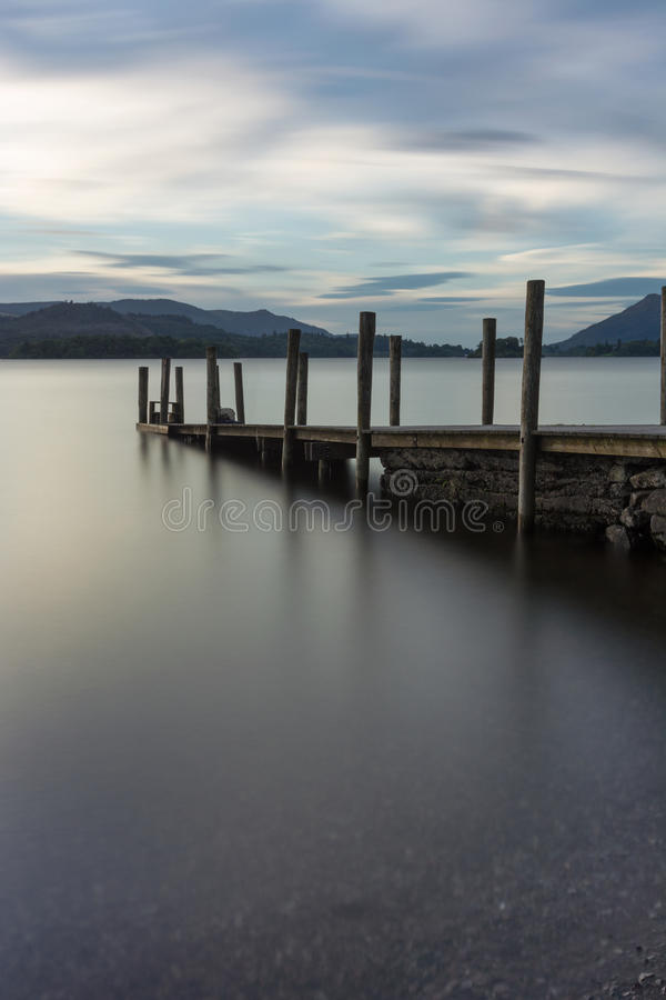 Ashness Jetty in Keswick, Lake District, UK. stock photos