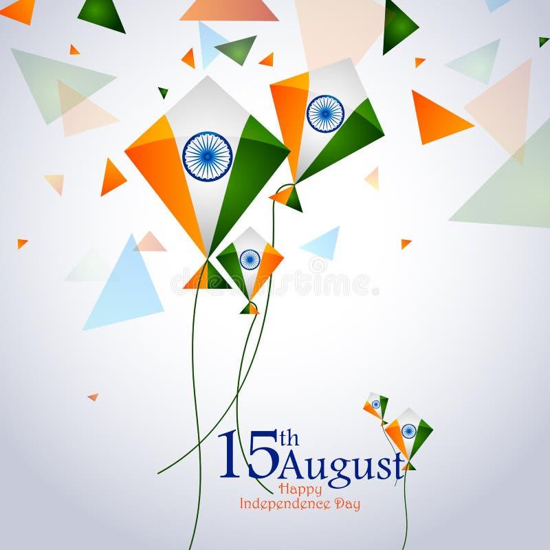 Ashoka Chakra on Happy Independence Day of India background. Easy to edit vector illustration of Ashoka Chakra on Happy Independence Day of India background vector illustration