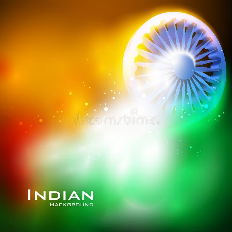 Ashoka Chakra on Happy Independence Day of India background royalty free illustration