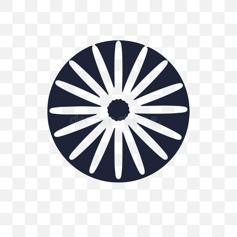 Ashoka genomskinlig symbol Ashoka symboldesign från Indien mot efterkrav stock illustrationer